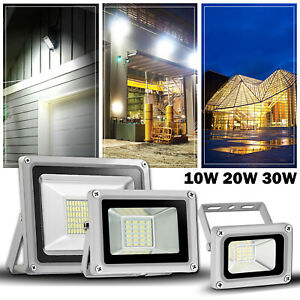 LED Flood Light 12V 10W 20W 30W Spotlight Security Yard Garden Outdoor Lamp