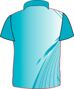 Men's Jersey Collar Neck Sports Dryfit T-Shirt  multi colour new Jersey sky blue