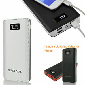 Portable Power Bank LCD LED 4 USB Battery Charger For Mobile Phone