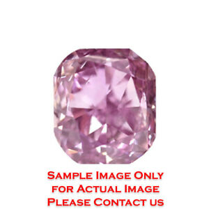 1.25ct Natural Radiant Diamond GIA Certified Fancy Pink PurpleVVS2 (1172702364)