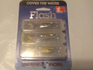 Blue Fox Flash Deep Runner 316 oz 3 Pack Lures wIndividual Hinged Containers