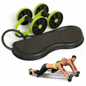 Double Ab Roller Elastic Resistance Pull Rope Abdominal Arm Leg Muscles Training