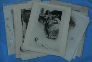 Lot 16 Antique Etchings and Lithographs by Mihaly Zichy Erotica Arabic Spanish $399.00