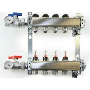 Uponor A2720402 Stainless-steel Manifold Assembly - 4 Loops