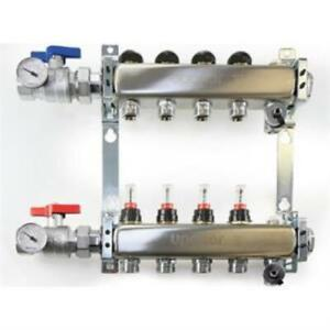 Uponor A2720702 Stainless-steel Manifold Assembly - 7 Loops