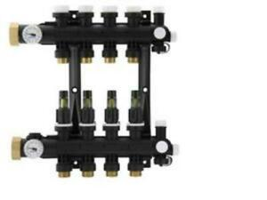 Uponor EP Heating Manifold Assembly with Flow Meter -- 8 Loops: A2670801