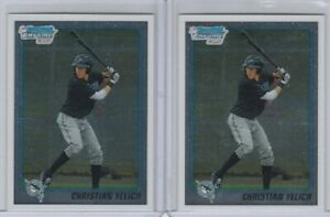 (2) 2010 Bowman Draft CHROME CHRISTIAN YELICH Rookie Lot #BDPP78 QTY Available