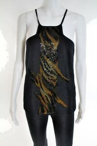 ESCADA **Black Embellished Designer Top 40 US Small