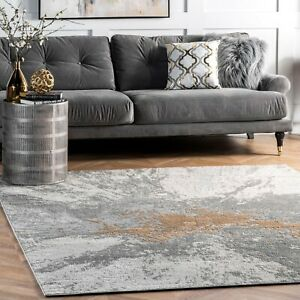 nuLOOM Contemporary Contemporary Abstract Area Rug in Silver $73.99
