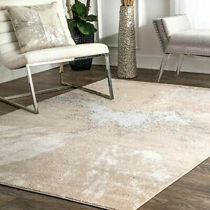 nuLOOM Contemporary Contemporary Abstract Area Rug in Beige $73.99