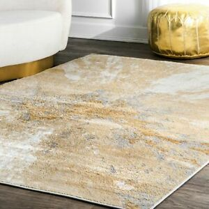 nuLOOM Contemporary Contemporary Abstract Area Rug in Gold $73.99