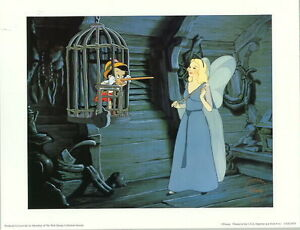 Disney Pinocchio In Cage Blue Fairy WDCC Lithograph