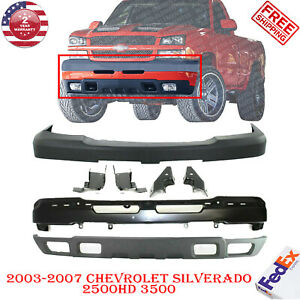 Front Bumper Primed + Cover + Valance  For 03-07 Chevy SILVERADO 2500HD  3500HD