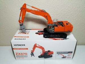Hitachi ZX870 Zaxis LCH-3 Excavator with Processor WSI 1:50 Model #04-1034 New!