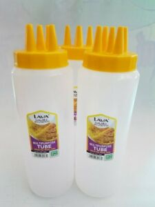New 5 Five Tip Squeeze Bottle Roti jala net lacy crepes mold BPA FREE 600ML 20oz