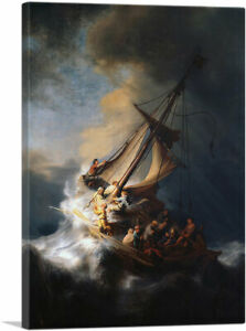 The Storm on the Sea of Galilee 1633 Canvas Art Print by Rembrandt van Rijn $76.99
