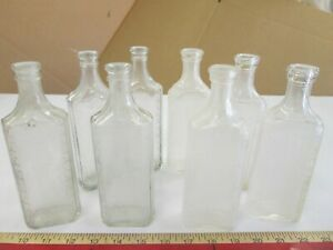8 Antique Apothecary RX Pharmacy Glass Bottles Hot Springs AR Drug Medicine $17.99