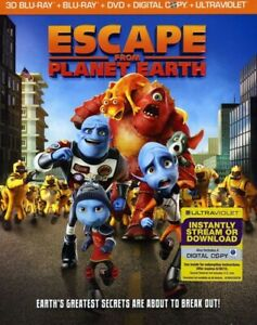 Escape from Planet Earth [4 Discs] [Includes Digital Copy (REGION A Blu-ray New)