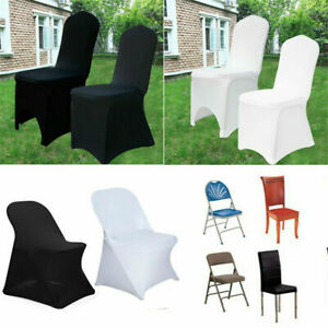 100PCS Lycra Fitted Stretchable Wedding Party Banquet Folding Seat Chair Covers