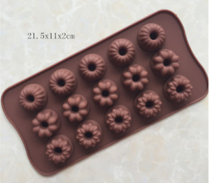 wholesale silicone cake Mold Heart-shaped flower stars Multicolor mold baking