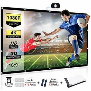 120 Inch Projector Screen 169 HD Anti-Crease Portable Projection Screen Indoor