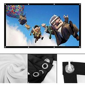 Projector Screen 100 Inch Portable Projection 169 HD Foldable Anti-Crease Movie