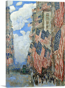 ARTCANVAS The Fourth Of July 1916 Canvas Art Print by Childe Hassam $59.99