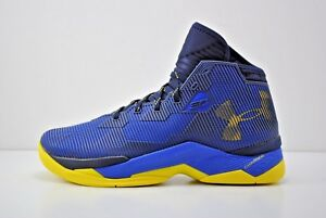 Under Armour UA Curry 2.5 Basketball Shoes Size 11 Blue Yellow 1274425 400