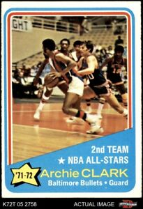 1972 Topps #170 Archie Clark  - NBA All-Star - 2nd Team Bullets (Wizards) EX/MT
