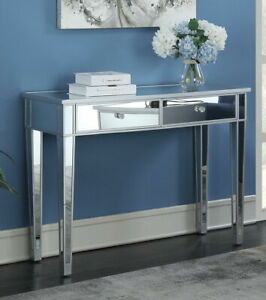 Mirrored Console Table With 2 Drawers Storage Dressing Table Furniture $154.90