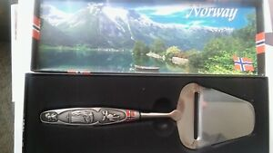 Norway Pewter Silver Cheese Slicer Gift Boxed NEW