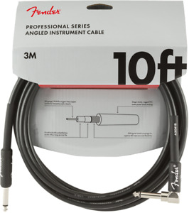 Fender Professional Guitar Instrument Cable Straight Right Angle 10#x27; ft $16.49