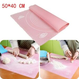 50*40cm Silicone Non-Stick Bake Cake Dough Fondant Rolling Knead Mat Scale Table