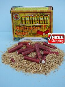 100 pc Adult Party Poppers 5 Boxes! Mandarin Red Party Cracker Snaps FREE SHIP