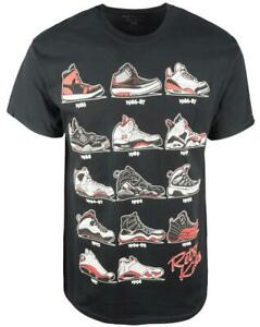 Authentic Classics Retro Kicks T-Shirt Mens Black Red