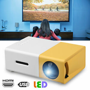 Mini Projector 3D HD 1080p TVAVUSBSDHDMI LED Home Theatre Cinema Multimedia