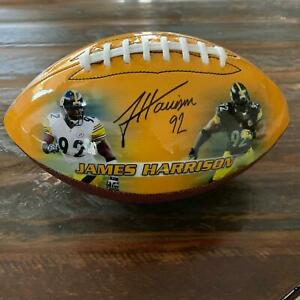 James Harrison Autographed Football LIMITED EDITION EXCLUSIVE $149.00
