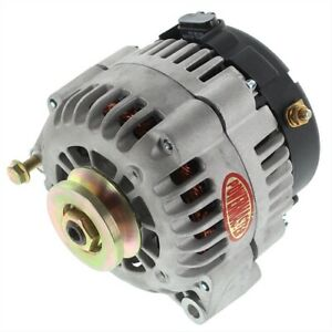 Powermaster 8-48529-120 AD Style Upgrade Alternator Natural Finish 165 Amp 1V Be