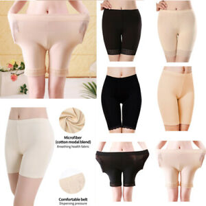 Women Silky Milky Feel Lace Yoga Elastic Underwear Leggings Under Shorts Panties C $7.49
