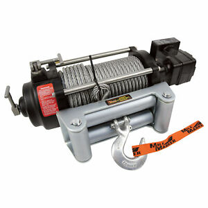 Mile Marker HI-Series Hydraulic Winch- 10500-lb Cap 12V DC Model# HI10500