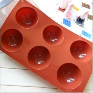 Half Ball Sphere Silicone Cake Mold Muffin Chocolate Cookie Baking Mould Pan FM $4.26