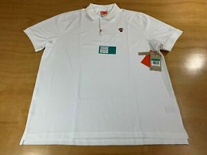 NIKE SPORTSWEAR TIGER WOODS DRI-FIT GOLF POLO SHIRT WHITE XL STANDARD FIT NWT