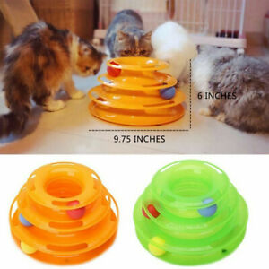 Pet Cat Crazy Ball Disk Interactive Toys Amusement Plate Trilaminar Funny Toy $9.95