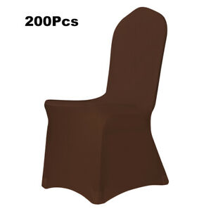 200Pcs Spandex Chair Covers Seat Cover for Wedding Party Banquet Hotel Decor