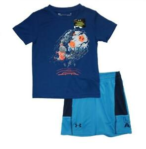 Under Armour Toddler Boys SS Graphic Soccer Player Top 2pc Short Set Size 2T