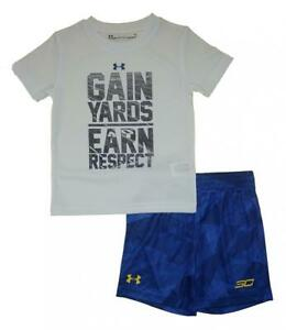 Under Armour Toddler Boys SS Gain Yards Earn Respect Top 2pc Short Set Size 2T