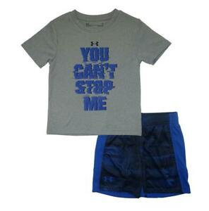 Under Armour Toddler Boys SS You Can't Stop Me Top 2pc Short Set Size 2T