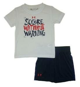 Under Armour Toddler Boys SS Score Without Warning Top 2pc Short Set Size 2T