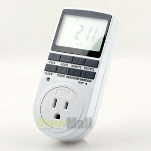 120V 15A US plug Big LCD display in Programmable Digital Timer Switch 24h 7 Day $16.33