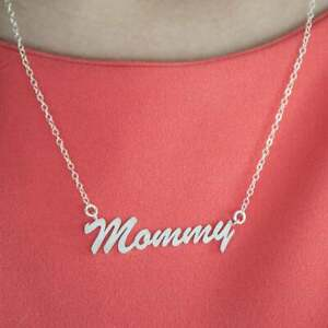 Twobirch 14k Gold Large 'Mommy' Name Plate Mother's Day